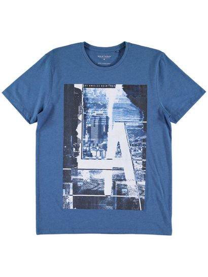 Mens Short Sleeve Photographic Print Tee