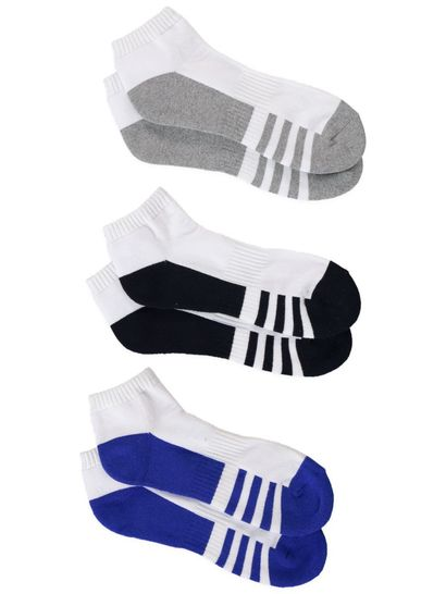 UNDERWORKS 3PK LOW CUT SPORT SOCKS