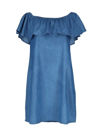 Womens Bardot Denim Dress