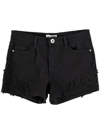 Womens Crochet Denim Short