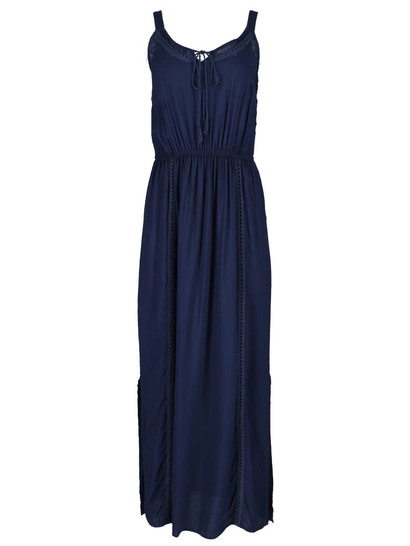 Embroidered Trim Maxi Dress