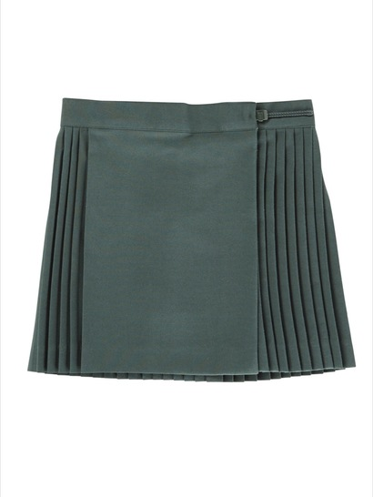 BOTTLE GREEN GIRLS NETBALL SKIRT