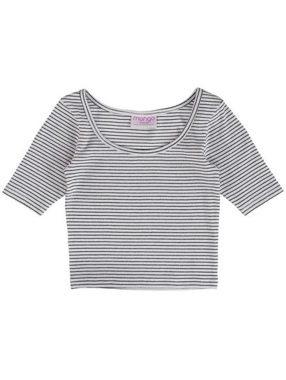Girls Short Sleeve Rib Tee