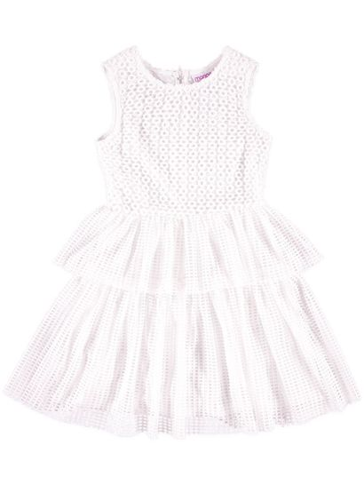 Girls Lazer Cut Dress