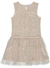 TODDLER GIRLS GLITTER PRINT DRESS