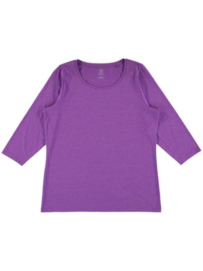 Plus Organic Cotton 3/4 Sleeve Tee Womens