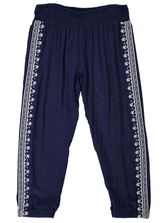 WOMENS EMBROIDERED CROP PANT