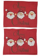 CHRISTMAS 2PK TAPERSTRY PLACEMATS