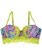 KAYSER STRAPLESS FEATHER PRINT BRA