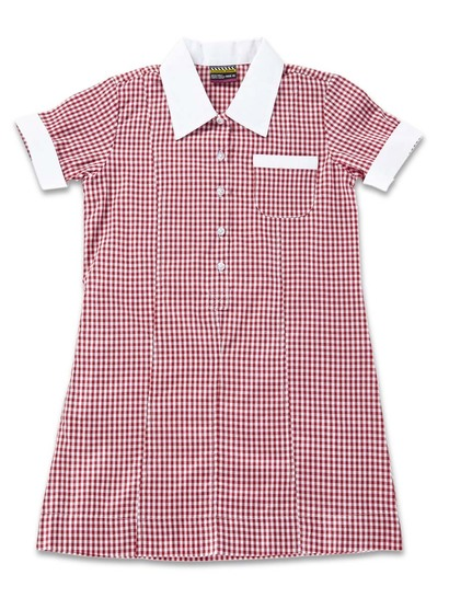 RED GIRLS GINGHAM DRESS