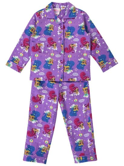 Girls Shimmer & Shine Flannelette Pyjamas
