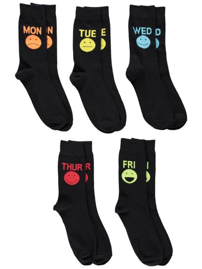 Mens 5Pk Novelty Socks