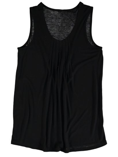 Solid Pintuck Tank Womens