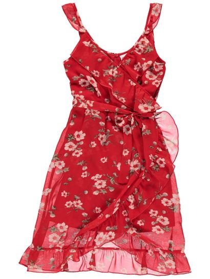 Girls Woven Print Dress