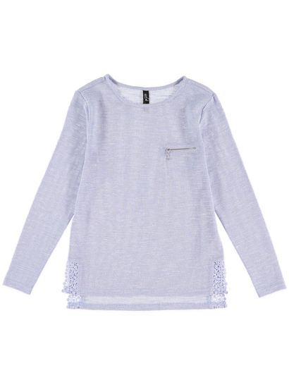 Lace Hem Pullover Womens