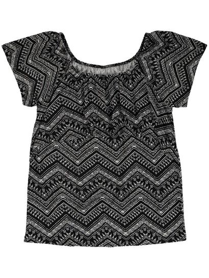 Frill Allover Print Gypsy Womens