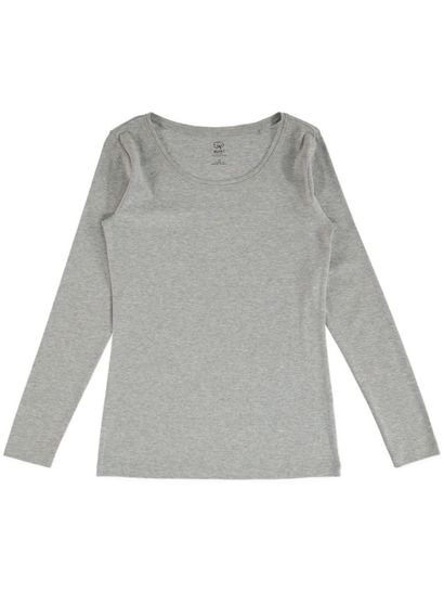 Organic Cotton Rib Long Sleeve Top Womens