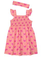 TODDLER GIRLS OMBRE PRINT KNIT DRESS