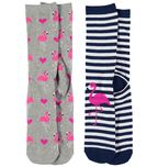 Crew 2Pk Pattern Socks Womens