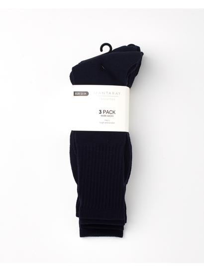 MENS 3PK WORK SOCKS