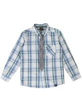 BOYS CHECK LS SHIRT AND TIE SET