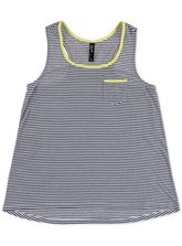 PLUS STRIPE DIP HEM TANK WOMENS
