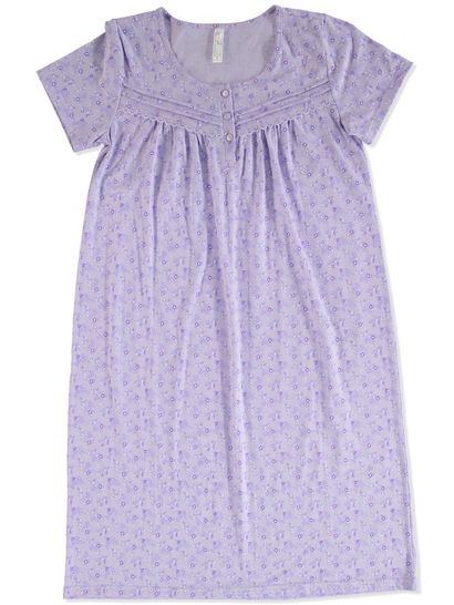 SHORT SLEEVE KNIT TRADITIONAL NIGHTIE SLEEPWEAR