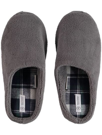 Mens Plain Scuff Slipper