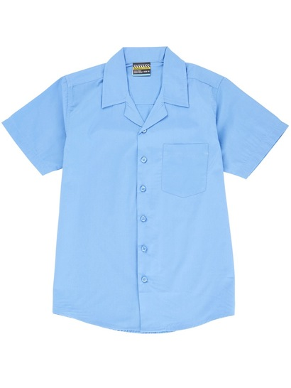 BLUE BOYS SHORT SLEEVE LAY BACK SHIRT