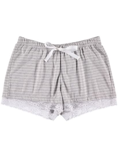 Lace Trim Short Womens Sleepwear