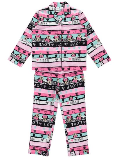 Girls Minnie Mouse Flannelette Pyjamas