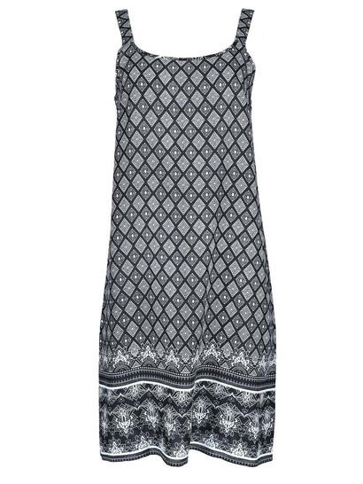 Womens Border Print Dress