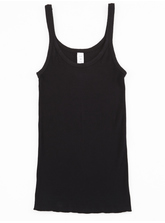 PICOT SINGLET COTTON 1X1 RIB WOMENS