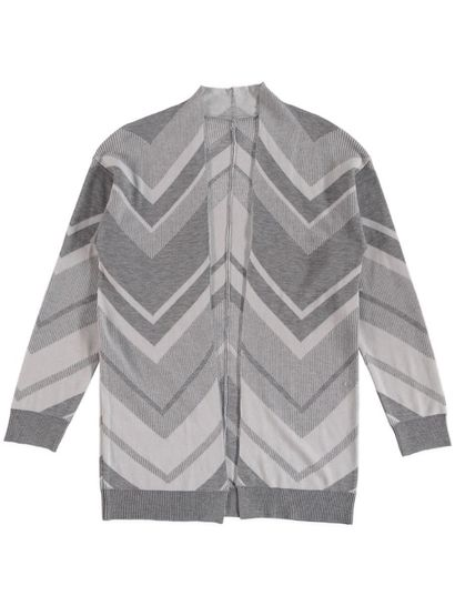 Plus Chevron Jaquard Cardi Womens