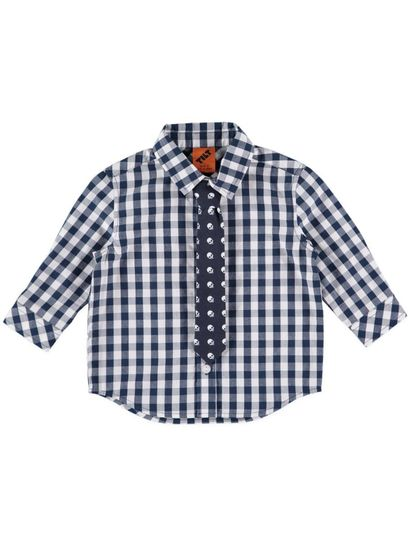 Boys Check Shirt And Tie