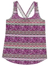 PLUS ALLOVER PRINT CROSS BACK TANK WOMENS