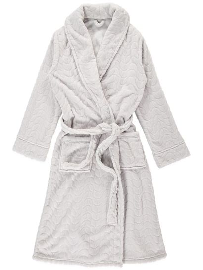 Jacquard Fleece Womens Dressing Gown