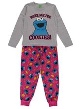 Cookie Monster Jersey And Flannel Pj Womens Sleep
