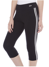 ELITE SIDE STRIPE CROP LEGGING WOMENS