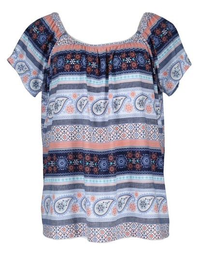 Allover Print Knit Gypsy Womens