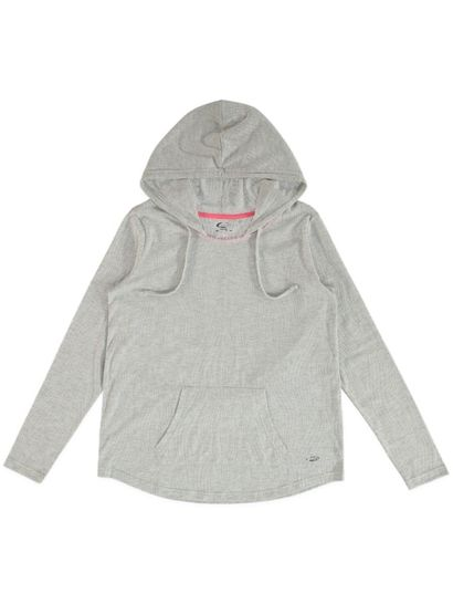 Plus Elite Hooded Burnout Top Womens
