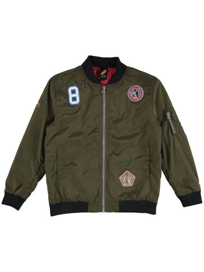 Boys Badge Bomber Jacket
