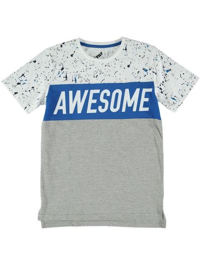 Boys Fashion Print Ss Tee