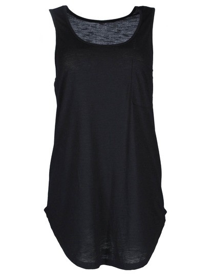 Plus Slub Shark Hem Tank Womens