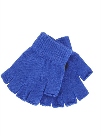 ROYAL BLUE KIDS FINGERLESS GLOVES