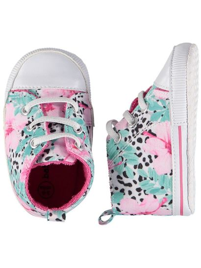 Baby Girl Soft Sole Printed High Top