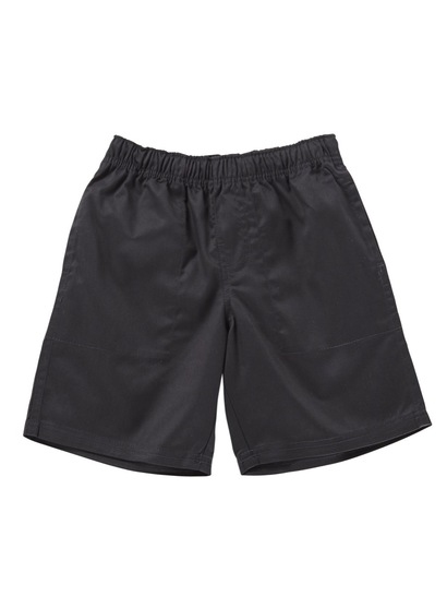 BLACK BOYS PLAIN DRILL SHORTS