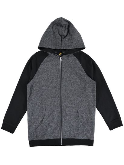 Boys Textured Zip Thru Hoodie