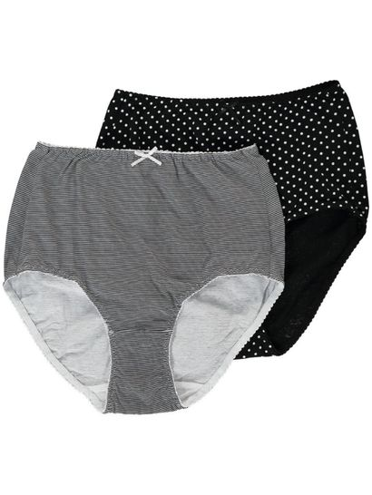 COTTON FULL BRIEF 2PK WOMENS
