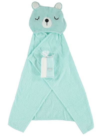 Baby Hooded Towel And 2Pk Washer Set